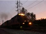 CSX 7490 leads Q418 on the River Line