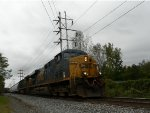 CSX S418 dashes by me heading to Selkirk