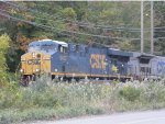 CSX 5437 and CSX 7509 take Q409 thru the siding to pull in behind Q417
