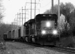 CSX 4026 in balck-and-white