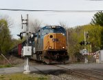CSX 4803 leads K654 at Erie Street!