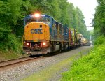 CSX 8773 leads W086 on the River Line!