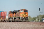 BNSF C44-9 # 4081 is the DPU on a westbound intermodal