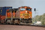 BNSF C44-9W #4103 leads an eastbound intermodal
