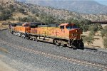BNSF C44-9W #4158 heads up an eastbound 'round the loop