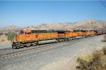 BNSF C44-9W #5208 heads a westbound grain train