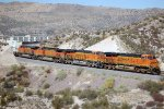 BNSF ES-44DC #7455 leads an eastbound stack train
