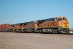 BNSF ES-44DC #7827 leads an eastbound intermodal