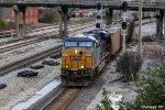 CSX 812 leads an empty coal train