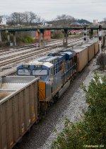 CSX 3182 working as a DPU on an empty coal train