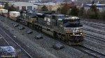 NS 7324 + 9789 leading an Intermodal train
