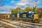 CSX 2253 & 6480 sitting @ the yard with a welded rail train