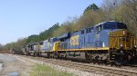 CSX mixed freight train NB