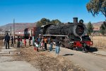 Local children come to admire 19D 2669 at Riverside