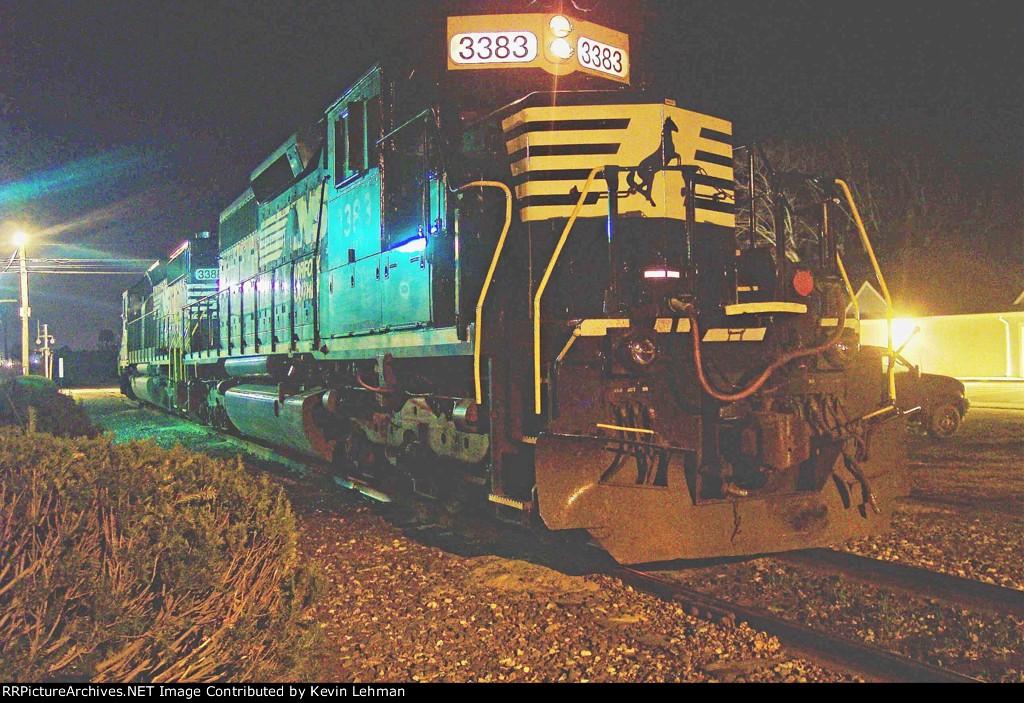 NS 3383 at night