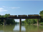UP 9584 MASKC-28 Crossing The Meramec