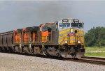 KCS4599, BNSF4409, BNSF4641 and BNSF4868