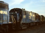 CR U-28-B #2822 ( only 2 on roster) is in the middle of a consist at Belmont