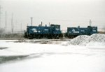 CR SW-1500 #9620 sits in the snow at Frankford Junction
