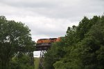 BNSF4312 and BNSF5506 crossing the trestle