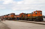 BNSF3408 and others outside the diesel shops