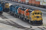 BNSF2842 and others in the yard