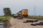 BNSF8904 and BNSF9591 waiting for a clear signal
