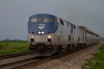 Amtrak125 and Amtrak19 emerging from a storm