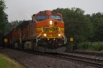 BNSF4481 and BNSF5409 in the rain at Peck Park