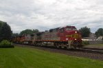 BNSF772, BNSF756, BNSF5190, BNSF4605 in the rain at Peck Park