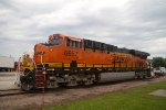 BNSF6657 on display at the Amtrak depot