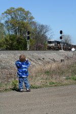 My Sons 1st Train picture