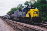 CSX 8710 leads consist with Trains Magazine's All American Diesel enroute to B&O Museum