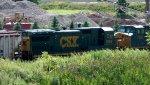 CSX 5960 Trailing on a grain train