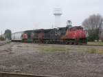 CN 2509 pulls out of the durand yard.