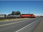 WAMX 3516 at the crossing at Louden west of