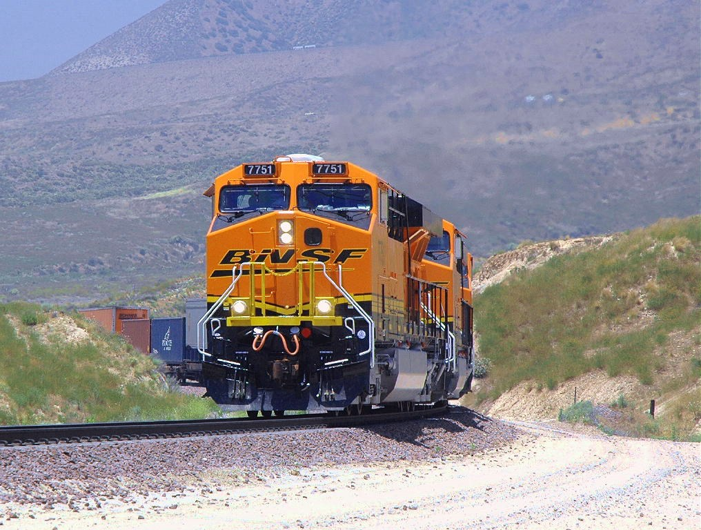 3 new BNSF GEVO's take on the grade on the legendary Cajon Pass.