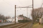 Amtrak F40PH #380 on 1-22-93  with Broadway Limited