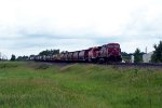 CP 9508 leads a fast eastbound