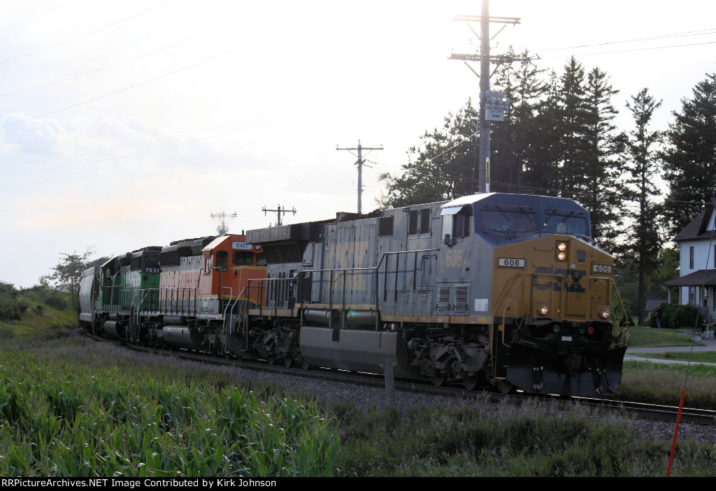 Eastbound CSX Loaded Ethanol At Swiss Valley