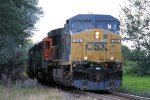 Eastbound CSX Loaded Ethanol Swings Thru the Trees