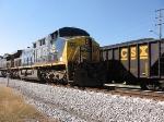 Q541 passing Herzog train