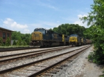 SB freight Q581 passing grain train