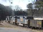 NB freight Q675 working up the grade