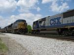 SB coal drag meets grain train