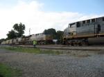 SB freight Q581 meets Q228