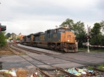 NB intermodal Q128 with a pair of ACes
