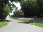 L580 stopping & splitting Cartersville in half with its 134 car long train
