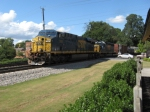 SB freight Q581 with 115 cars