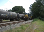 NB autorack train Q210 meets Q676